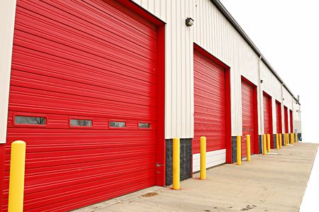 loading dock doors Stock Photo