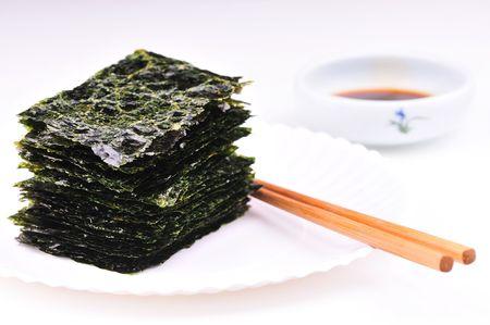 secado de algas Foto de archivo
