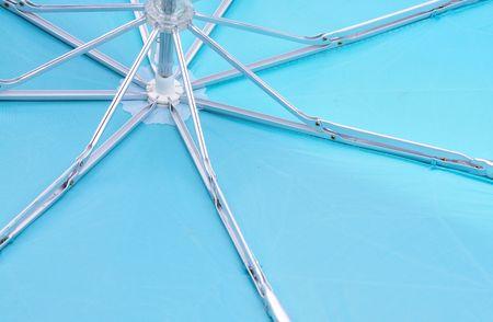 inside of blue umbrella