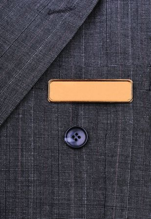 name tag on the business suit Stock Photo - 4180934