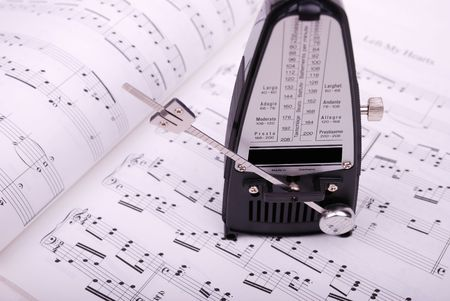 metronome on the sheet music photo