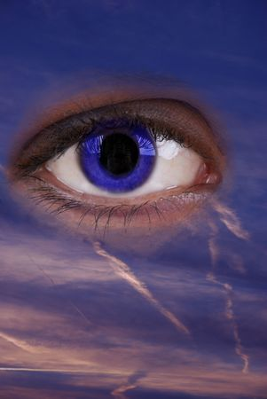 eye in the sky-idea of the god is watching you photo