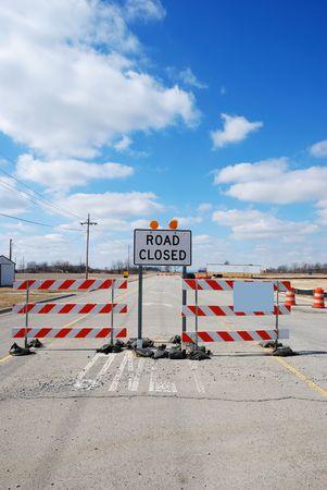 road closed Stock Photo