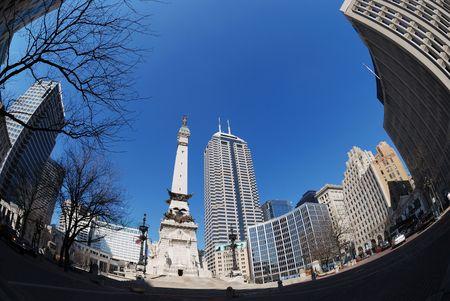city of Indianapolis Stock Photo