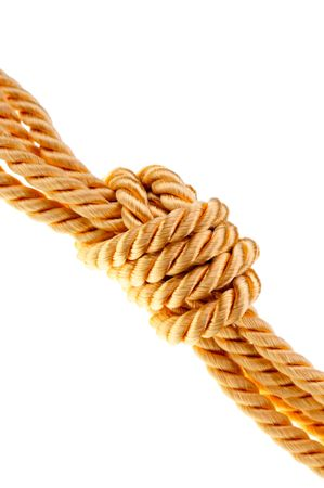 bonding rope: golden rope Stock Photo