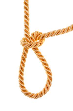bonding rope: golden rope Stock Photo