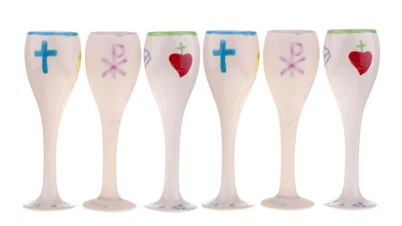 first miracle: first communion cups Stock Photo