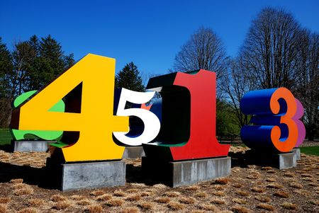 number yard Reklamní fotografie