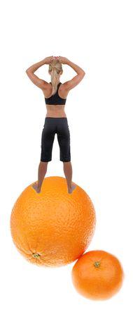 lady on the orange photo