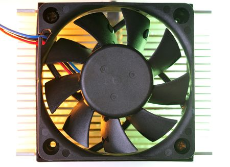 computer cooling fan and heat sink photo