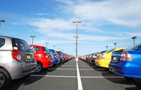 cars parking: car dealer Stock Photo