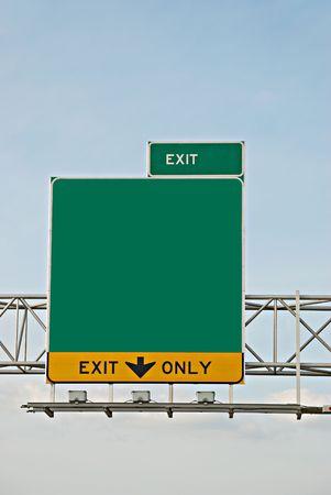 exit information Standard-Bild