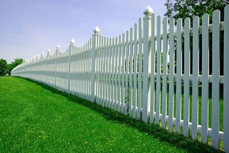 Blanc clôture Banque d'images - 4966409