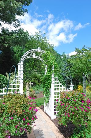 arch in the garden photo