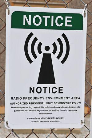 radio frequency warning sign Stock Photo - 5599903