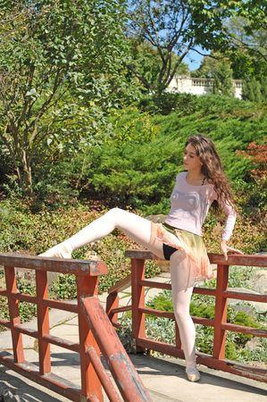dancing on the bridge Фото со стока