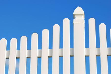 white fence Standard-Bild
