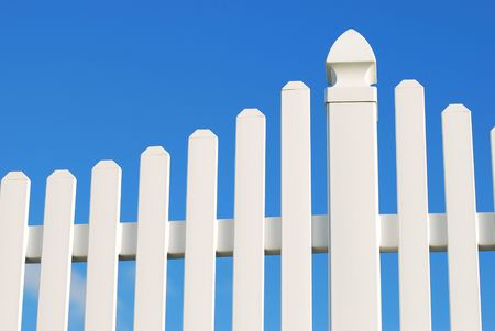 white fence Stock Photo - 5774324
