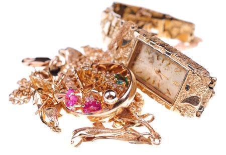 scrap metal: oro per pagamento in contanti Archivio Fotografico