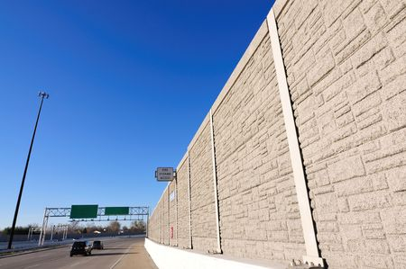 barrier: noise barrier on the highway