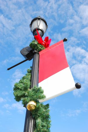 street lamp: holiday streetlight Stock Photo