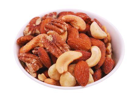 Bowl of mixed nuts Standard-Bild - 6170026