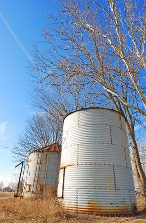 abandoned grain silos
