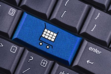 shopping cart key on the computer keyboard Stock Photo - 6503708