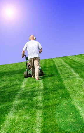 mowing