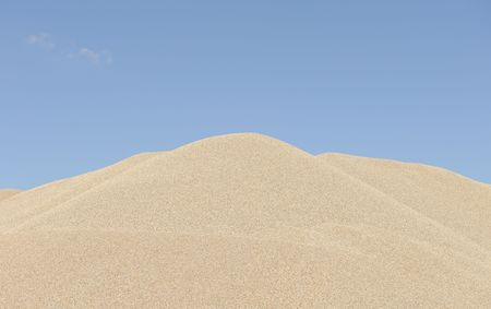stockpile of sand photo