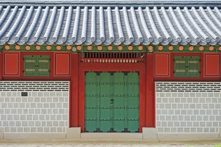 korean ancient palace gate Stock Photo