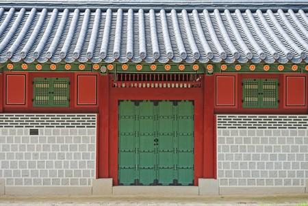 korean ancient palace gate Standard-Bild