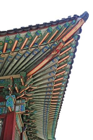 korean old palace roof