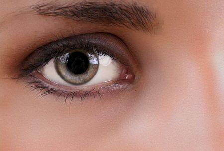 face close up: eye Stock Photo