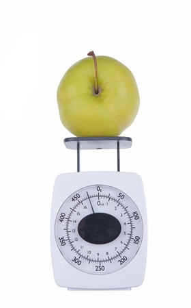 apple on the scale