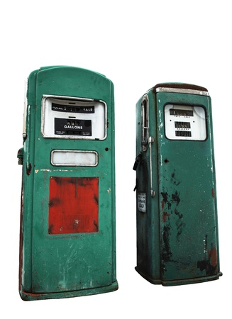 gas pump: antique gas pump Stock Photo