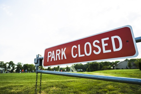 park closed Reklamní fotografie