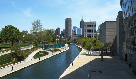 water canal in downtown Indianapolis, Indiana