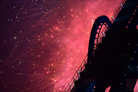 Fireworks over the rollercoaster
