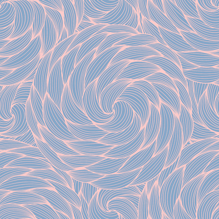 Rose Quartz and Serenity vector seamless abstract pattern. Wave patterns