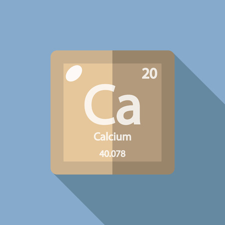 Chemical element Calcium. Flat design style modern vector illustration. Isolated on background. Elements in flat design.