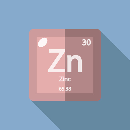 iupac: Chemical element Zinc. Flat design style modern vector illustration. Isolated on background. Elements in flat design. Illustration