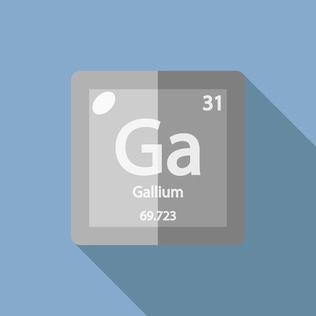 serial: Chemical element Gallium. Flat design style modern vector illustration. Isolated on background. Elements in flat design. Illustration
