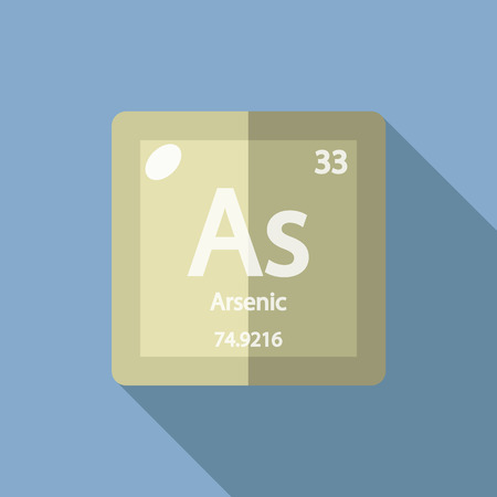 arsenic: Chemical element Arsenic. Flat design style modern vector illustration. Isolated on background. Elements in flat design. Illustration
