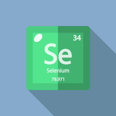 selenium: Chemical element Selenium. Flat design style modern vector illustration. Isolated on background. Elements in flat design. Illustration