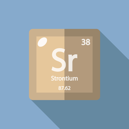 strontium: Chemical element Strontium. Flat design style modern vector illustration. Isolated on background. Elements in flat design.