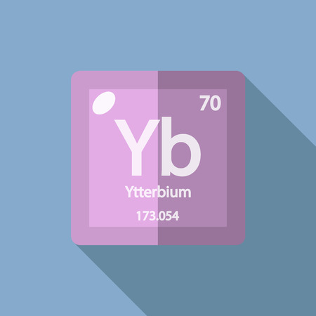 lanthanide: Chemical element Ytterbium. Flat design style modern vector illustration. Isolated on background. Elements in flat design.