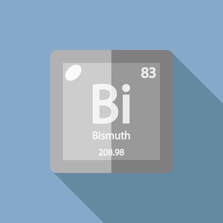 bismuth: Chemical element Bismuth. Flat design style modern vector illustration. Isolated on background. Elements in flat design.