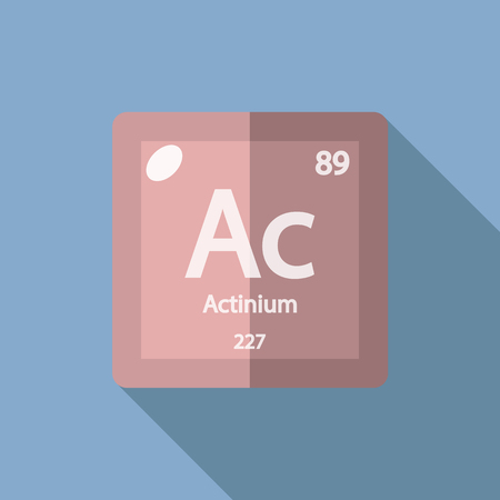 stinks: Chemical element Actinium. Flat design style modern vector illustration. Isolated on background. Elements in flat design.