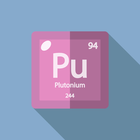 radioisotope: Chemical element Plutonium. Flat design style modern vector illustration. Isolated on background. Elements in flat design.